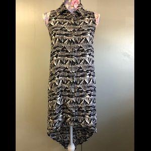 Billabong Designer's Closet collar tip tunic